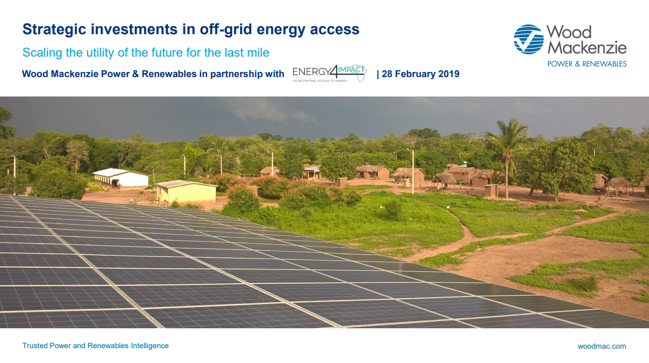 ARE Newsletter April 2019: Off-grid Investments: Financing