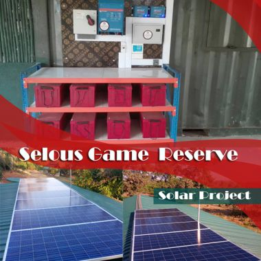 Sepon LTD Solar project for Remote Off grid staff camps for Frankfurt Zoological Society in Matambwe- Selous. The solar system powers 16 staff houses with  a total of 76 lights as well as 2 solar freezers, 2 water pumps and 20 fans. For mor information check www.sepon.co.tz