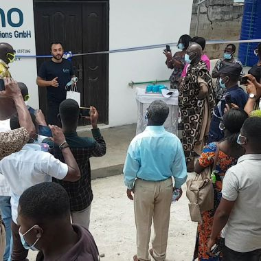 Grino commissioned the pilot project in Ghana