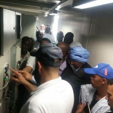 Hands-on training on a PV plant installed in Mauritania.